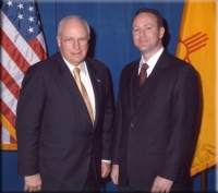 Robb Hamic and Vice-President Dick Cheney
